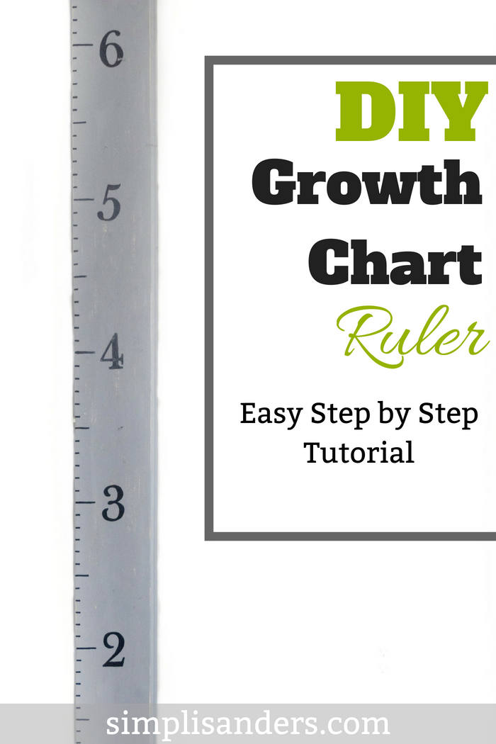 Diy Growth Chart For Kids Easy Tutorial Simple Money Mom