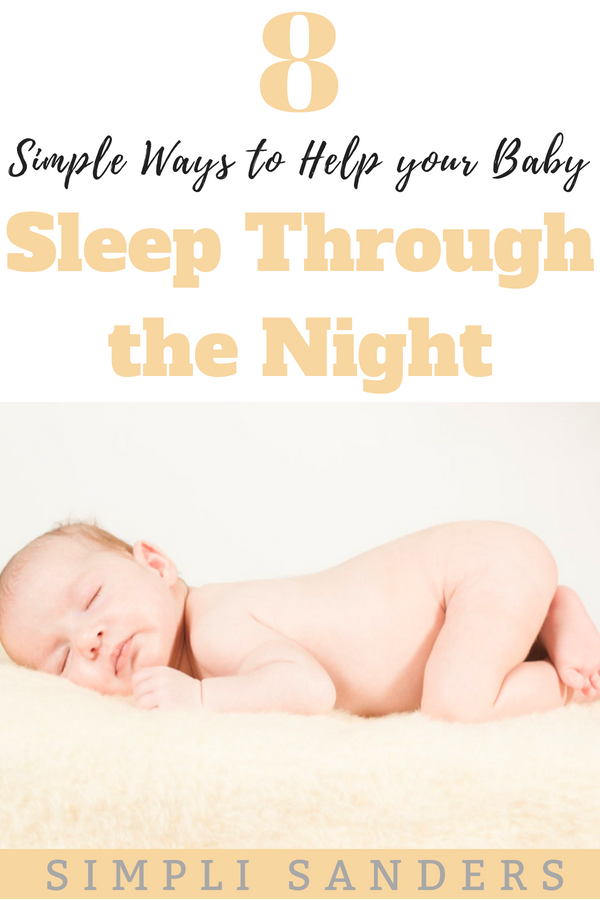 Are you utterly exhausted because your baby isn't sleeping through the night? You may need to evaluate these 4 things to get your baby on track for better sleep. #babysleep #baby #sleep #sleepthroughthenight