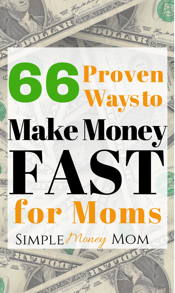 This list is full of great ways to make money fast. If you need to make money to pay off debt or get ahead, then this post is for you. #makemoney #makemoneyonline #makemoneyfast #easywaystomakemoney #simplemoneymom #earnmoney