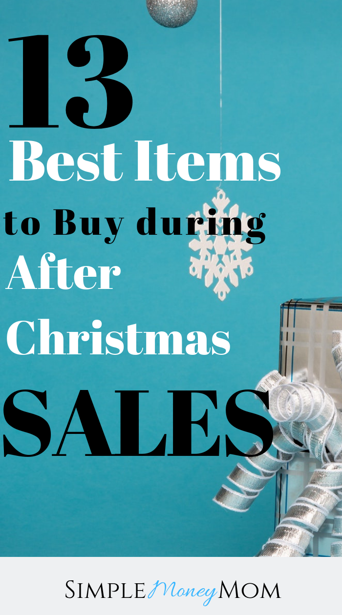 Write down this list so you can get off on the right start for next year! You don't want to miss these sales! You can save money with these deeply discounted items. #afterchristmassale #yearendsale #savingmoney #simplemoneymom #personalfinance