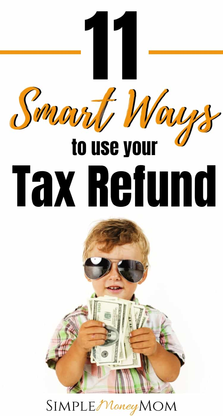 Here are some very smart ways you can spend your tax refund this year. You can stress less knowing that you will be making a wise decision. Learn what financial experts suggest you do with chunks of money come your way. #taxes #taxtips #moneytips #taxrefund #simplemoneymom