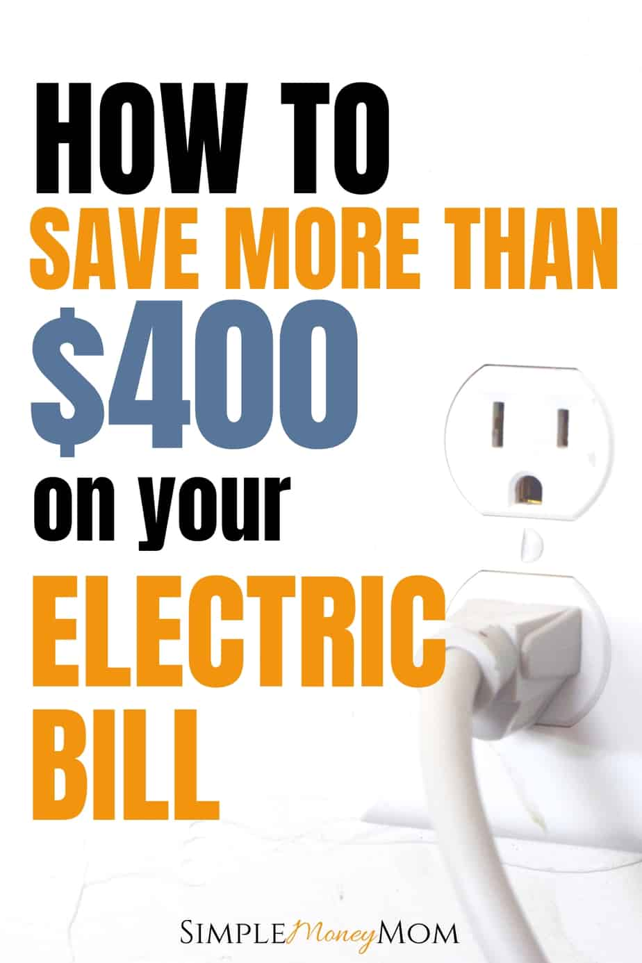 Learn how you can save money on your electric bill by unplugging your devices. I was able to save $420 per year by doing this. See how it works and why everyone should be doing this! #savemoney #unplugging #electricbill #personalfinance #simplemoneymom
