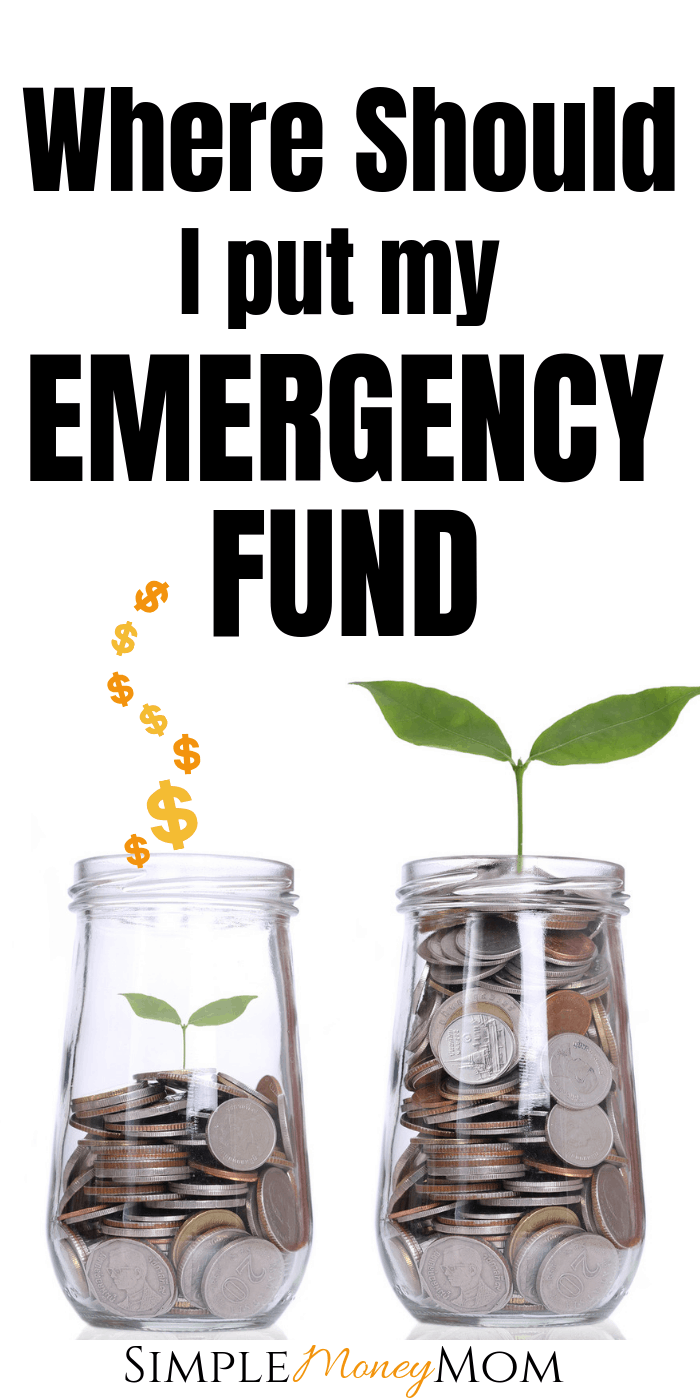 Want to know the best places to stash your savings to make the most money? Get to know your emergency fund and why it's so important to your financial health.  #emergencyfund #daveramsey #babystep3 #simplemoneymom #savingmoney