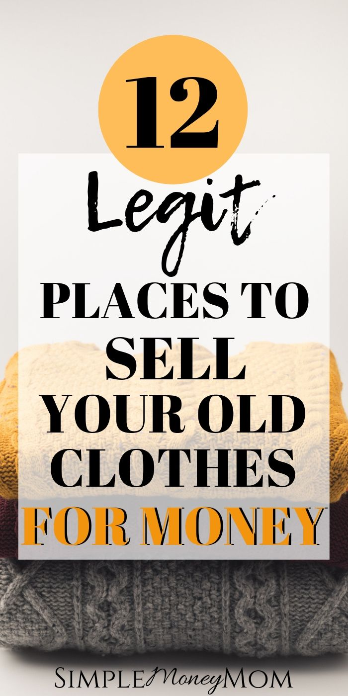 Want to sell your used clothes for profit? Need extra cash? Find out how and where to sell used clothes for money. #makemoney #sellclothes #sellusedclothes #sellingclothes #simplemoneymom