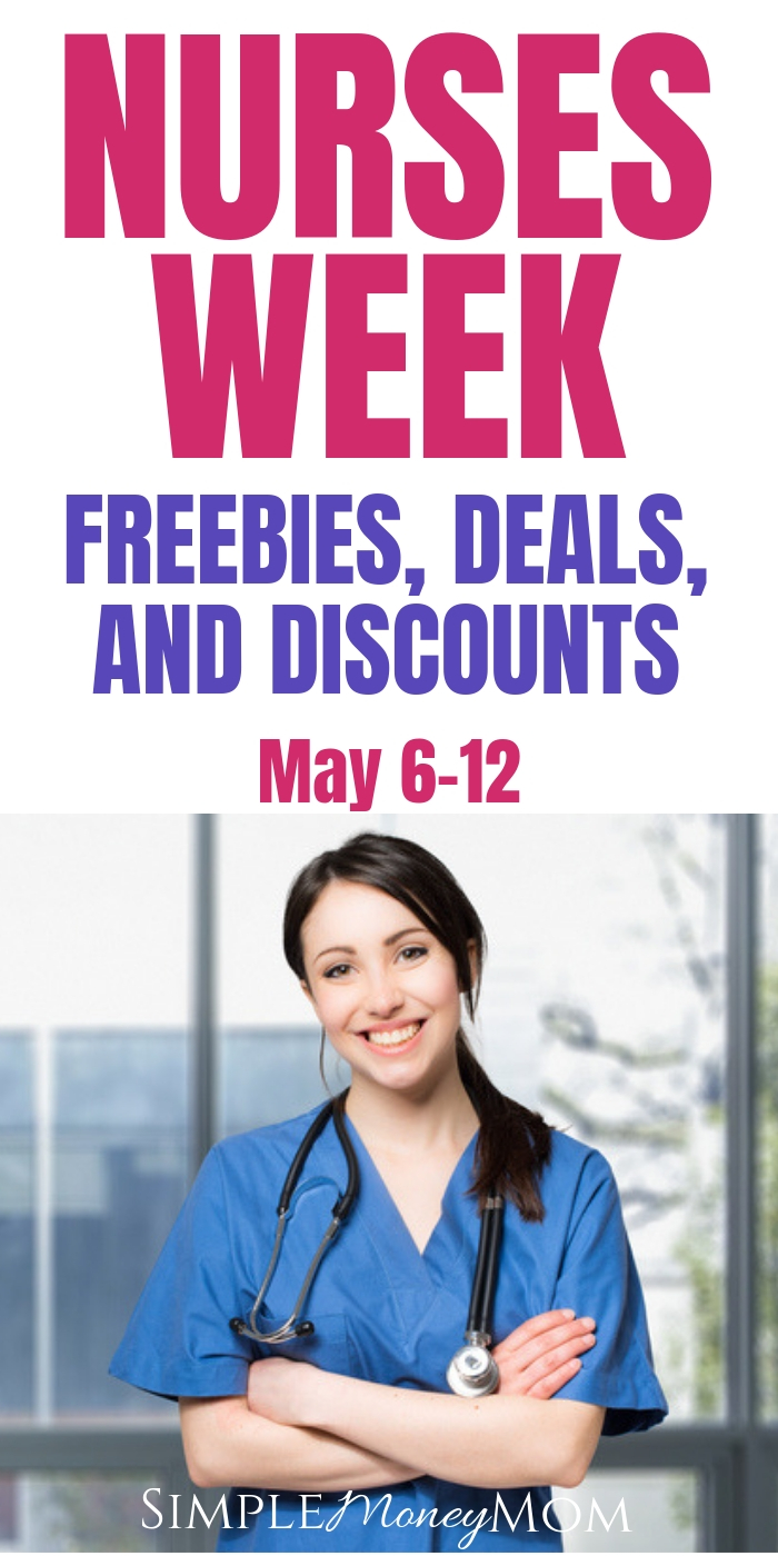 Check out these awesome Nurses Week freebies, deals, and discounts to restaurants, businesses, and organizations! Nurses saving money! #nurses #RN #savingmoney #freebies #simplemoneymom