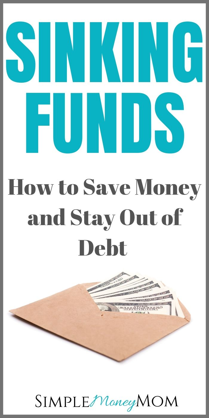 When you set up a sinking fund, give yourself the freedom to have fun. By setting aside a small amount of money each month, saving for large expenses will seem less intimidating. Find out how to use sinking funds and everything else you need to know in this article. #sinkingfunds #money #savingmoney #budgeting101 #simplemoneymom