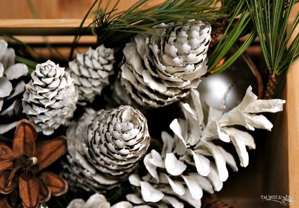Easy Bleached Pinecones