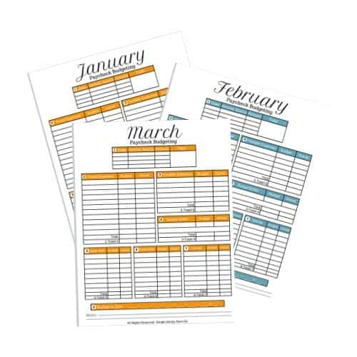 the paycheck budgeting template