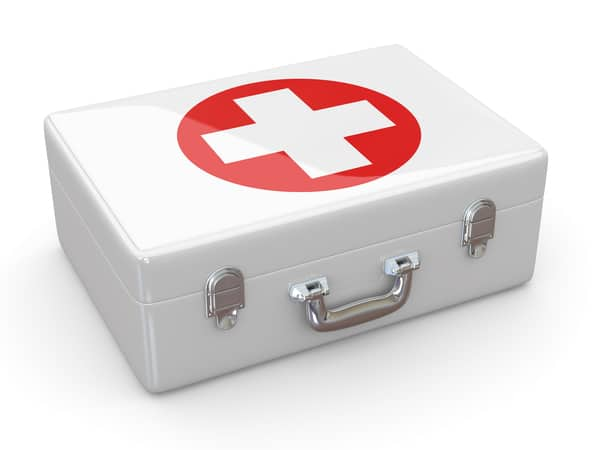 Emergency kit depicted as emergency budget